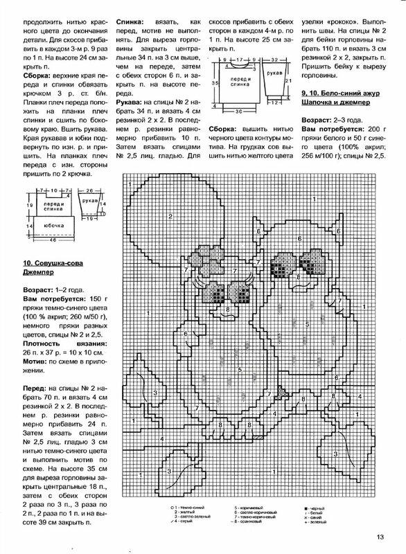 Детское вязание с описаниями и схемами рисунков