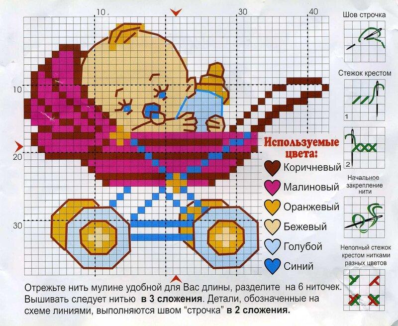 Схемы вышивка крестом с детьми 488