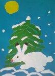 Гайсин Клим (рук. Жежа Лилия Николаевна) - Зайчик в зимнем лесу