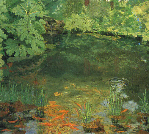 Churchill Paints a pond