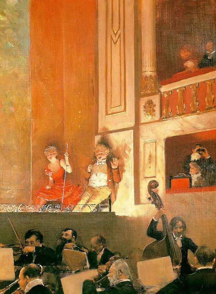 Представление в театре Варьете1888, Беро, Жан (1849-1935)