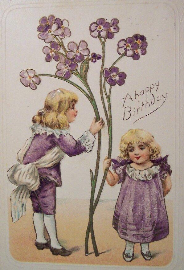 Днем бухгалтера, день рождения старинная открытка русская версия