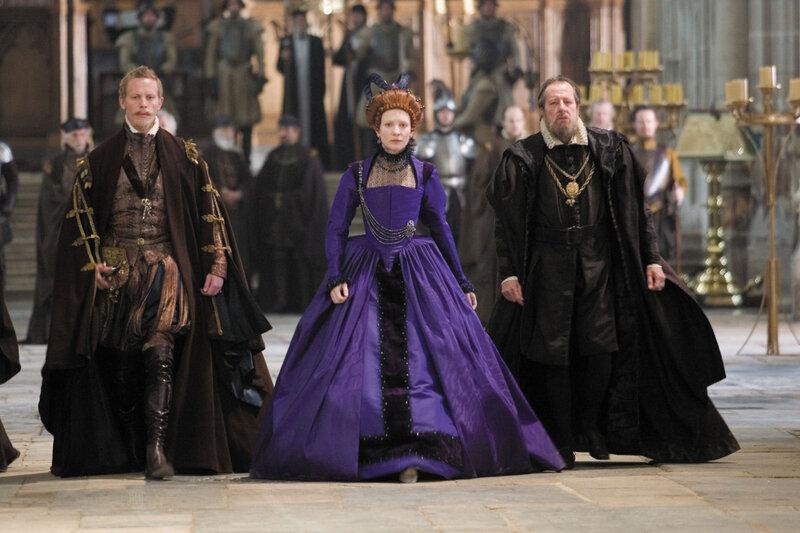 Laurence Fox (Sir Christopher Hatton), Cate Blanchett (Elizabeth) and Geoffrey Rush (Sir Francis Walsingham) in Elizabeth: The Golden Age.