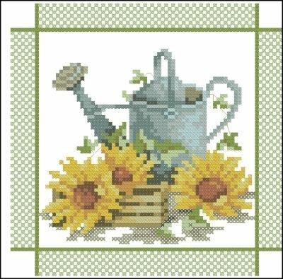 Цветы и Растения.  Поделиться.  Lanarte. бесплатно. схема.  Метки. крестом.  0. Альбом.  Marija. вышивки.