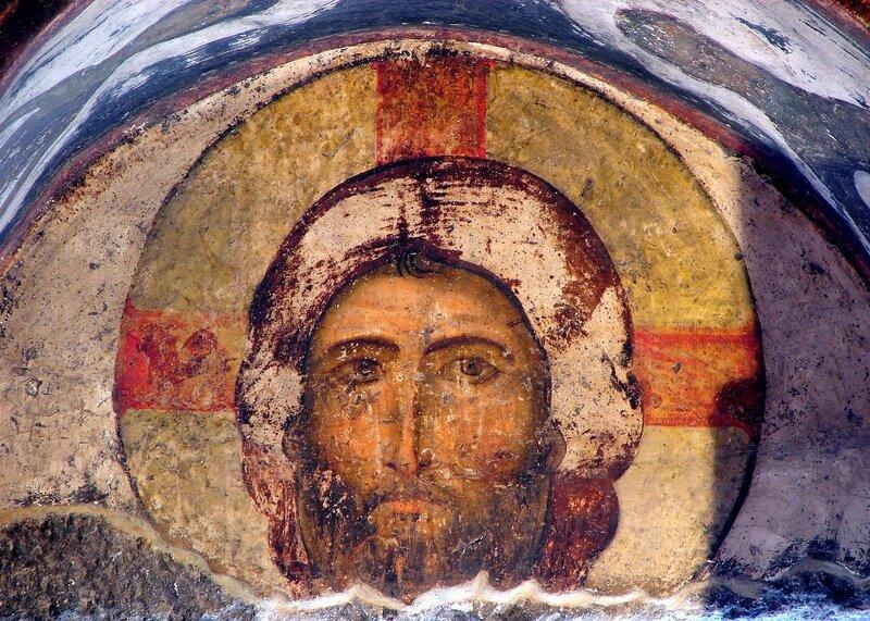 Спас Нерукотворный. Грузинская фреска.