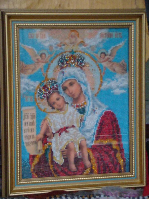 Картины и панно ручной работы.  Ярмарка Мастеров - ручная работа Икона Богородица милующая.  Handmade.