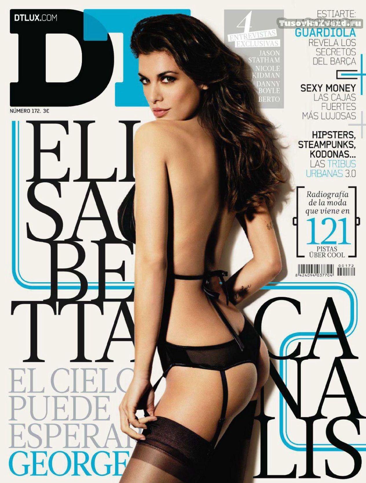 Элизабетта Каналис (Elisabetta Canalis) эротическая фото сессия для журнала DT Испания, март 2011