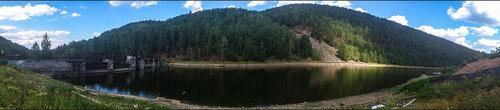 Панорама  водохранилища у Электростанция Пороги