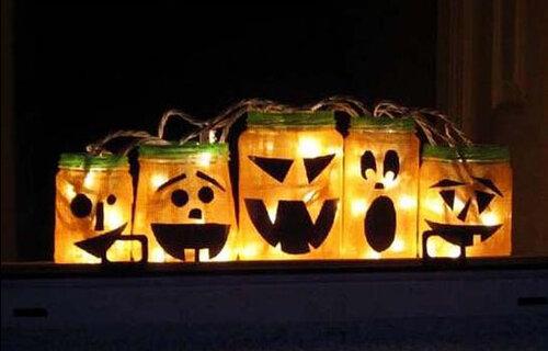 Светящиеся фонари на хэллоуин