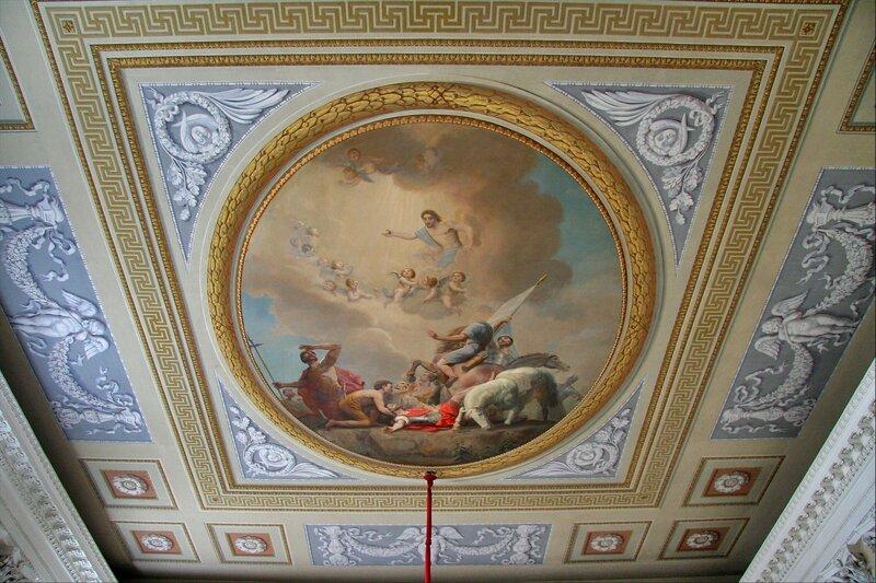 Павловский дворец. Церковь Петра и Павла, потолок
