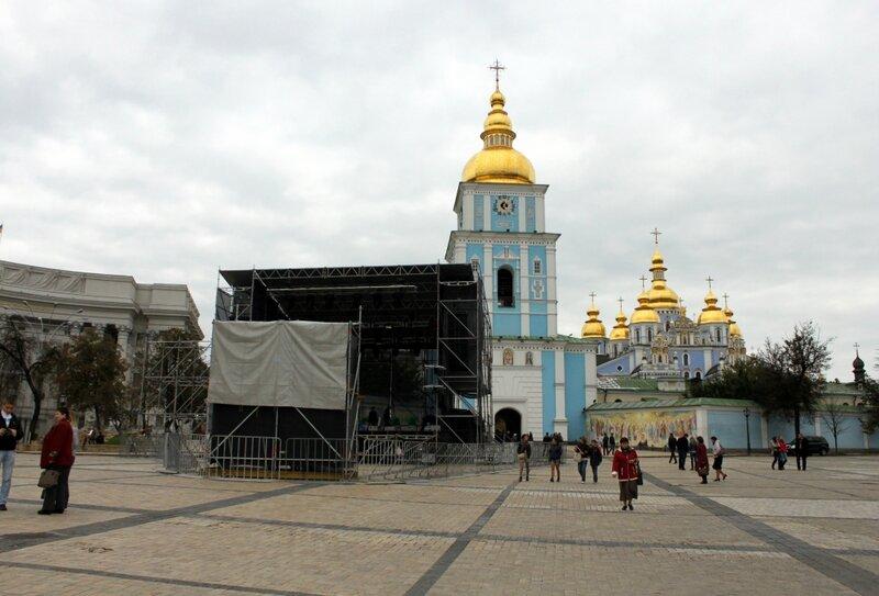 Сцена на Михайловской площади