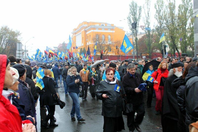 Шествие националистов по Киеву
