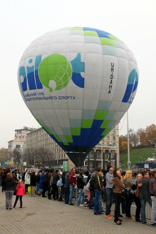 Воздушный шар над Майданом Незалежности
