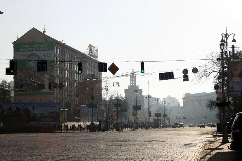 Вид с Европейской площади на Майдан Незалежности