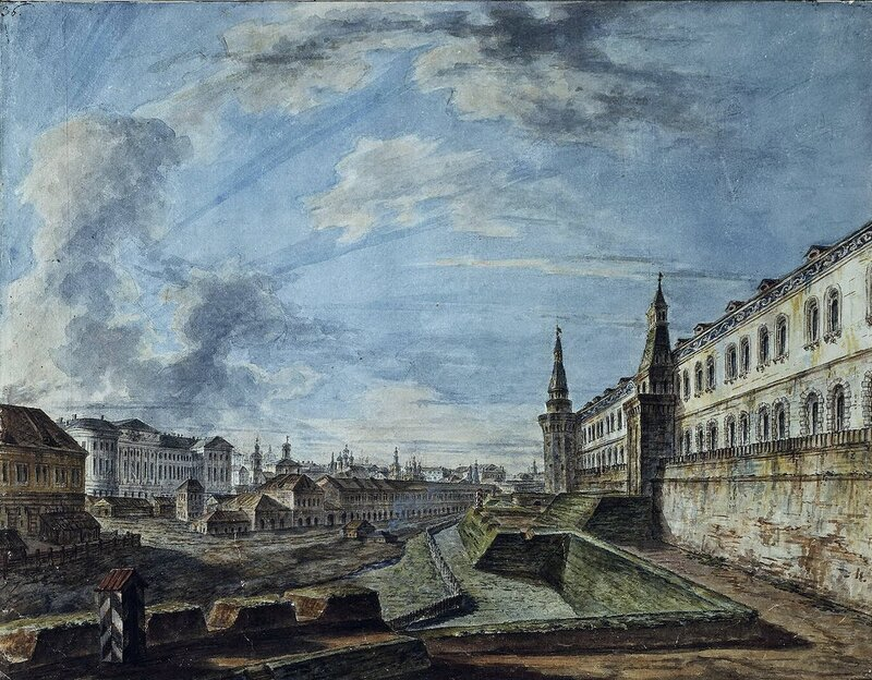 Фёдор Алексеев. Вид Москвы от Троицких ворот Кремля. 1810-е
