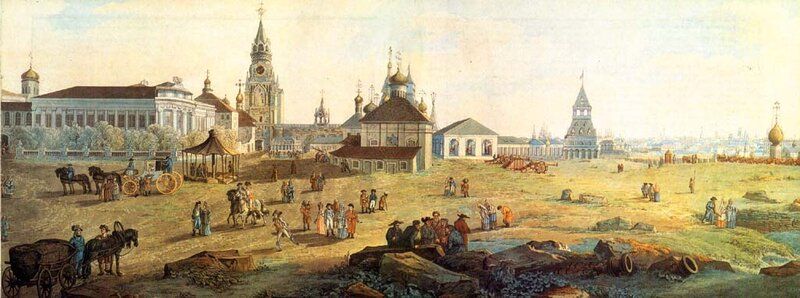 Делабарт. Кремль. Спасские ворота. 1795.