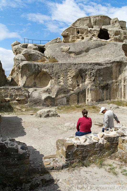 Остатки одного из крупнейших языческих храмов в Уплисцихе
