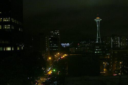 Вид на Сиэтл из отеля Warwick