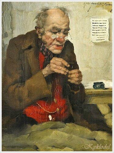 Robert Frank Krauss (German, 1893 - 1950) «The old tailor»
