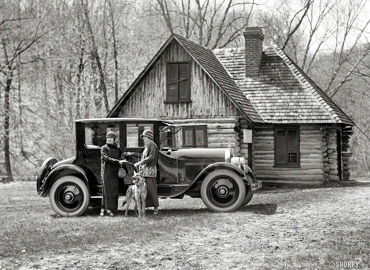 Автомобили и девушки начала 20-го века на снимках американских фотографов (32)