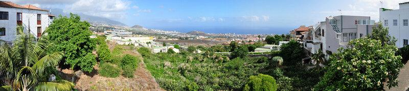 Ла Оратава вид на часть города и побережье, Тенерифе
