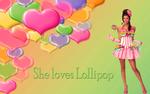 She loves lollipop