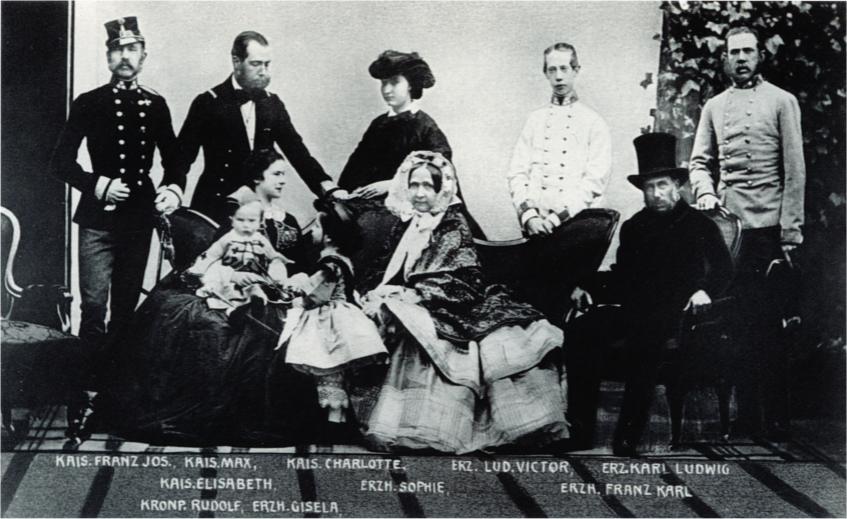 Kaiser Franz Joseph I. mit seiner Familie