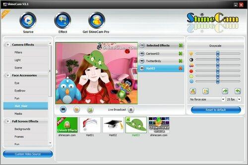 ShineCam  - Эффекты для веб камеры