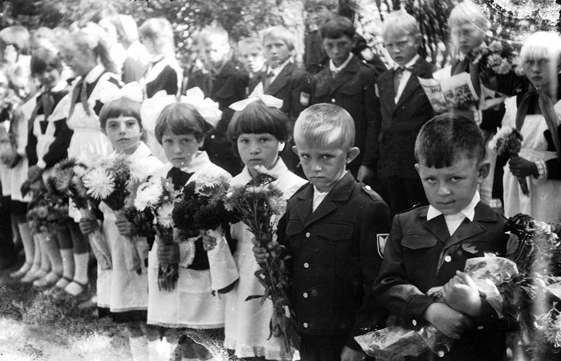 Трескино, школа, 1 сентября восьмидесятых