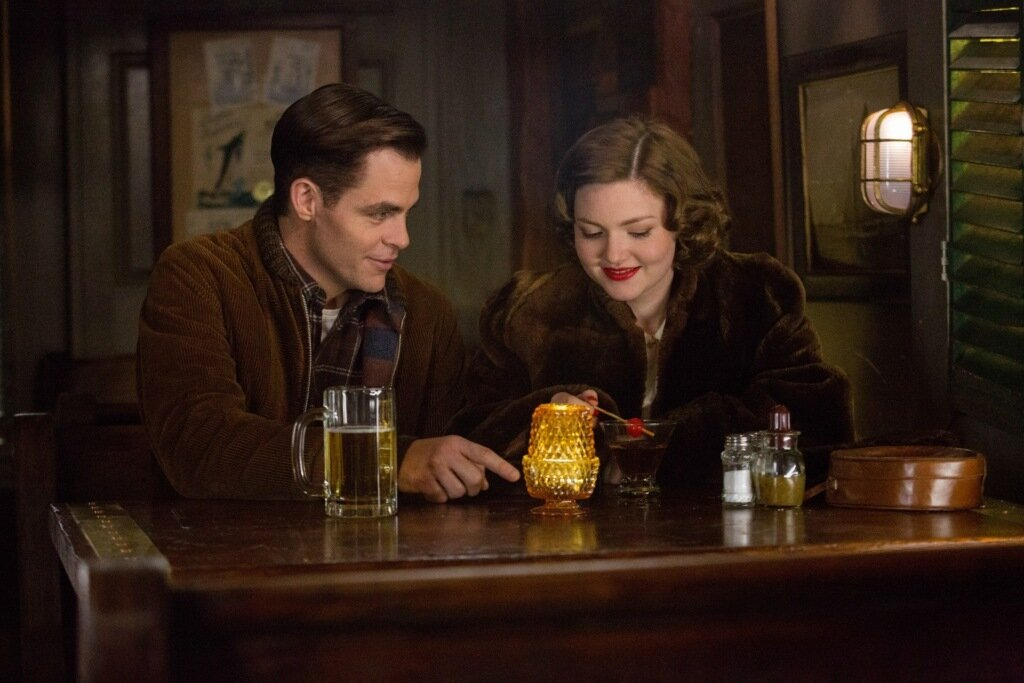 Chris PIne is Bernie Webber and Holliday Grainger is Miriam in Disney's THE FINEST HOURS, a heroic action-thriller based on the extraordinary true story of the most daring rescue in the history of the Coast Guard.