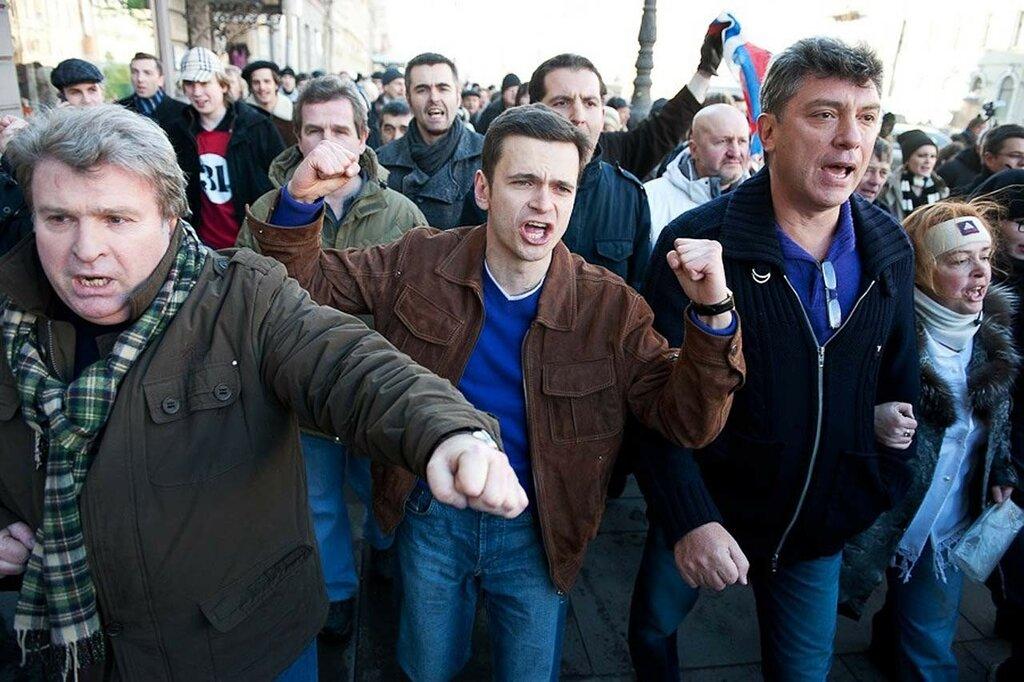 Марш Несогласных 31 марта 2011-го, Санкт-Петербург, Рыклин, Немцов, Яшин
