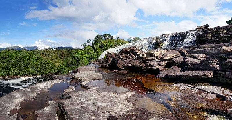 Начало водопада Сапо.