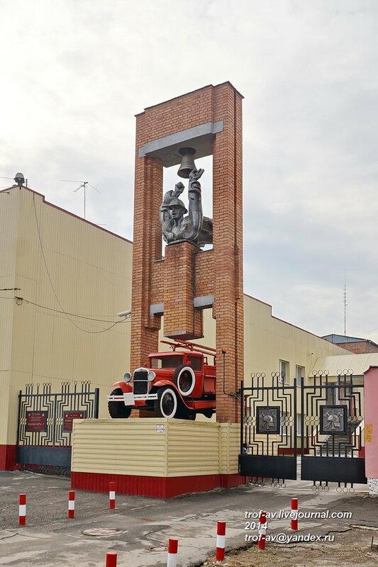 Памятник рязанским пожарным, ГАЗ-АА с ПМГ-1, Рязань