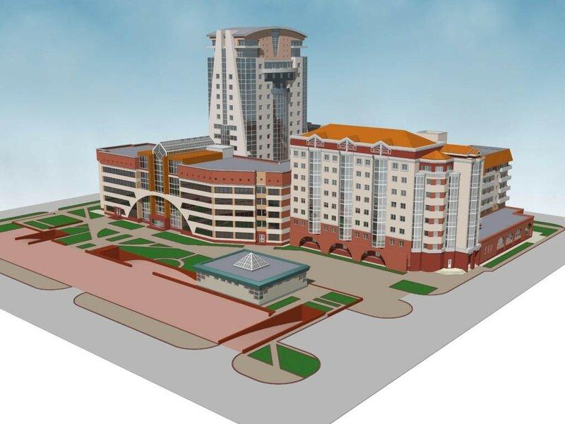 Реконструкция бизнес-центра в гостинично-жилом комплексе по ул.Садовой, 181, блоки А и Д