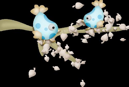 птички на ветке