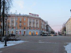 Здание Ростелекома - Новый год в Великом Новгороде