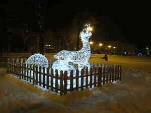 Светящиеся олени - Новый год в Великом Новгороде