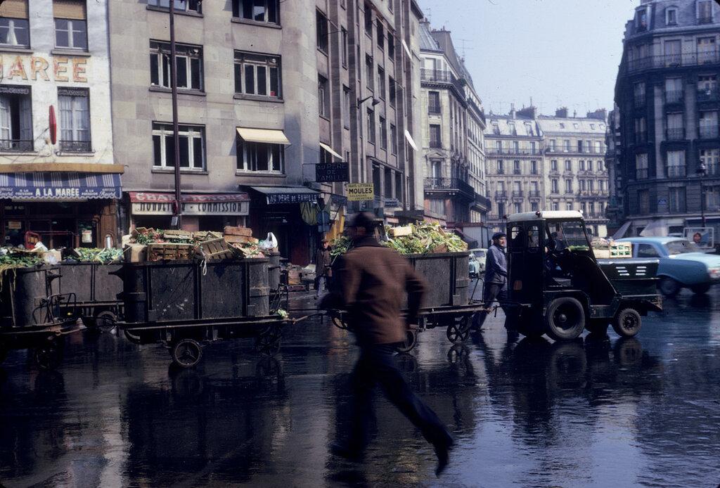 Les Halles de Paris en avril 1968