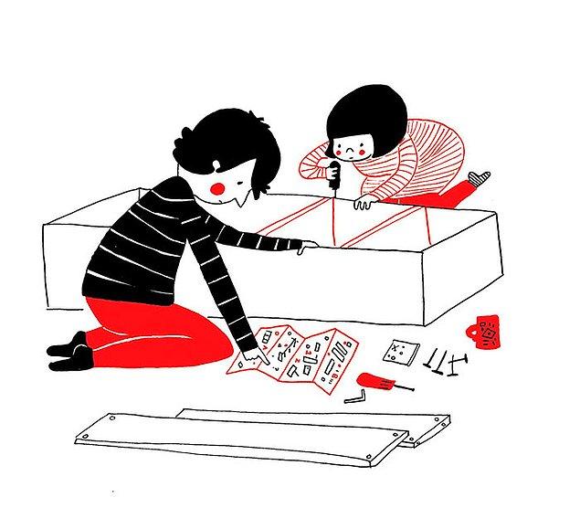 Любовь - это вместо лего собирать мебель