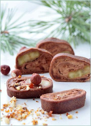 Рулеты из шоколадных блинчиков с начинкой из шоколадного мусса и карамелизованных бананов 0_147220_333e872a_L