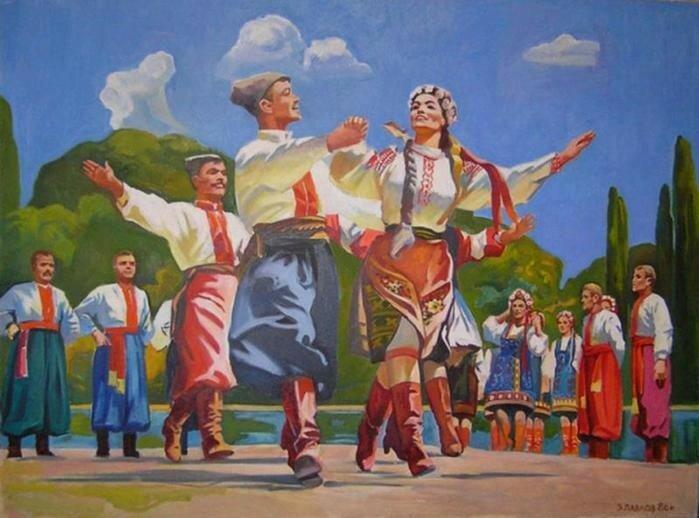Гопак и другие украинские танцы в живописи