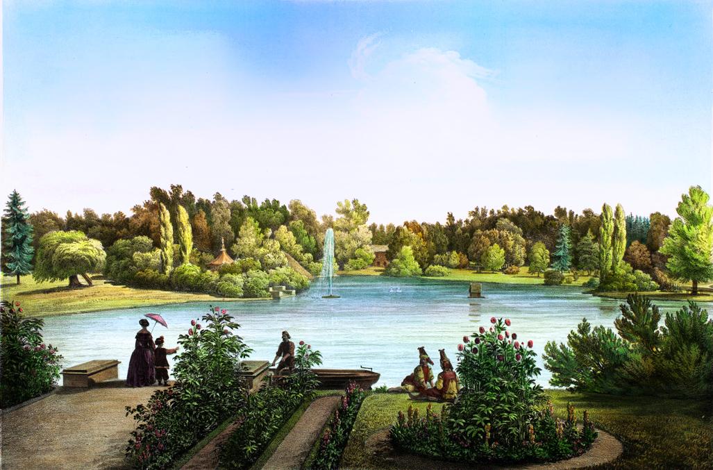 Вид из кьеска синопа на западную часть пруда.
