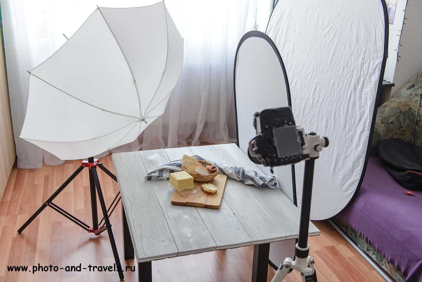 Фотография 17. Стандартная обстановка при съемке еды в условиях недостатка света (24-70, А, 38мм, f5, 1.5сек, ISO 100).