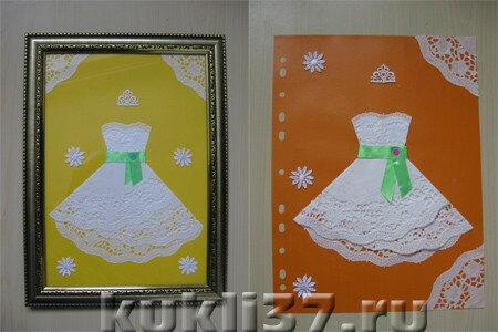 белые платья из бумаги