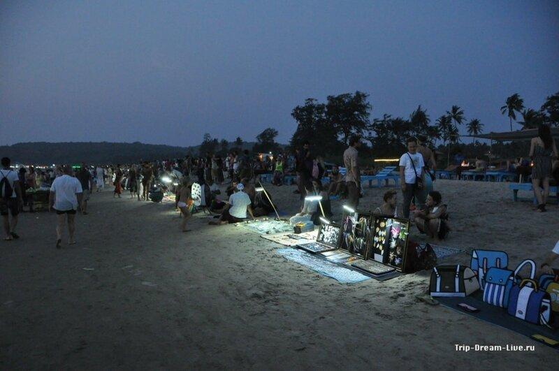 Сансет маркет на пляже Арамболь