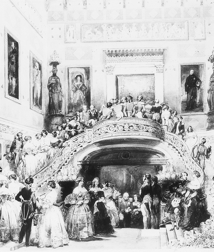 The Grand Staircase at Buckingham Palace, State Ball, 5 July 1848  dated 1848.jpg