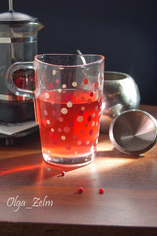 Травяной чай с брусникой