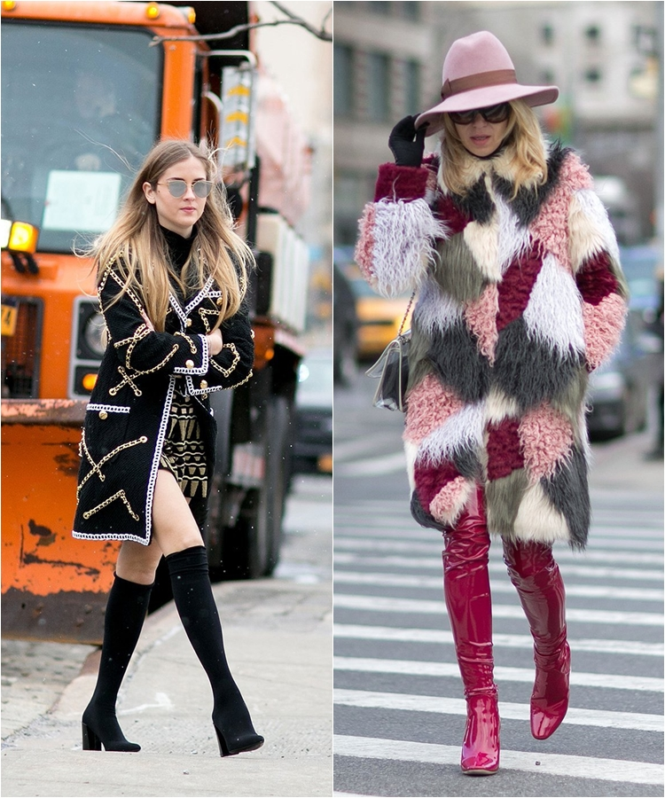 How To Wear High Boots Streetstyle From New York Fashion Week Fall Winter 2016 2017 Cinefog