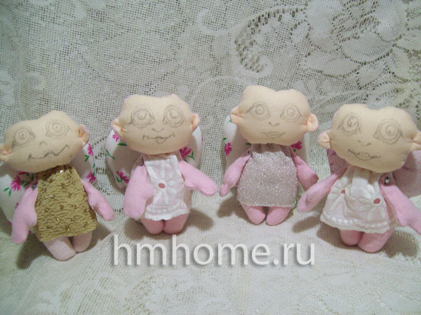Сувенирные ангелы из ткани