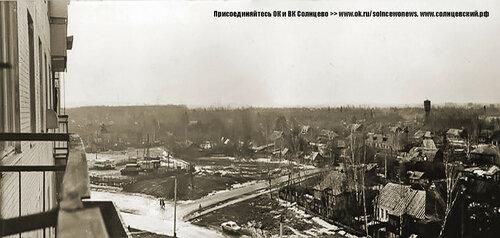 Поворот с Солнцевского проспекта на Волынскую улицу 1975 год #Солнцево